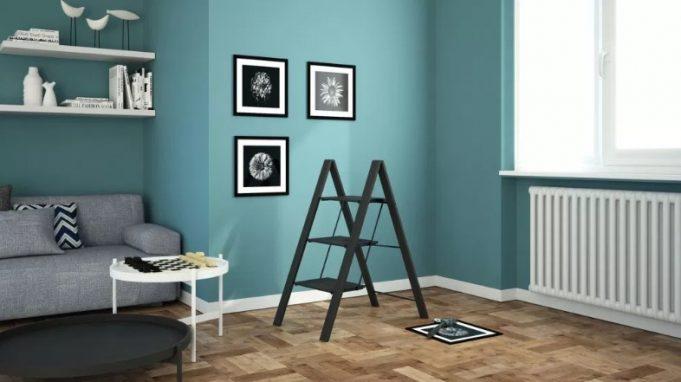 Scaletta Leonardo 3 gradini nera