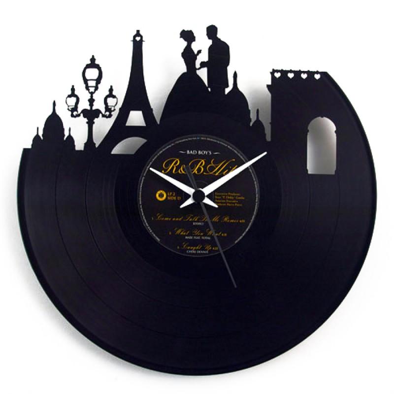 Orologio da parete in vinile Paris